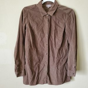 J Jill Brown Button Down Jacket Size XS